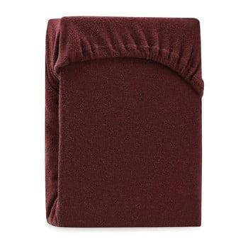 Cearșaf elastic pentru pat dublu AmeliaHome Ruby Siesta, 200-220 x 200 cm, maro bonami.ro