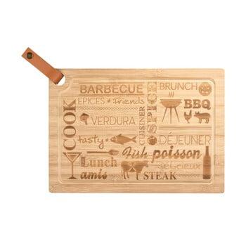 Tocător din lemn de bambus Wenko Steak Board, 39,5 x 28 cm. bonami.ro
