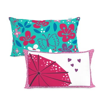 Față de pernă din bumbac cu 2 fețe Moshi Moshi Cherry Blossom, 50x30cm poza bonami.ro
