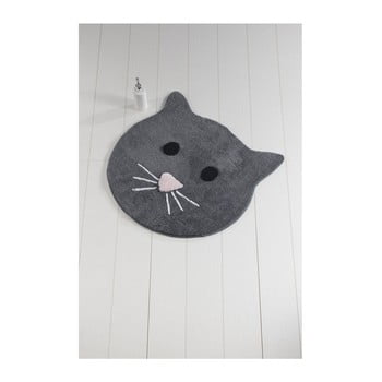 Covor de baie Cat, ⌀ 90 cm, antracit poza bonami.ro