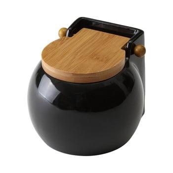 Recipient pentru sare Unimasa Ceramic, 700 ml, negru bonami.ro