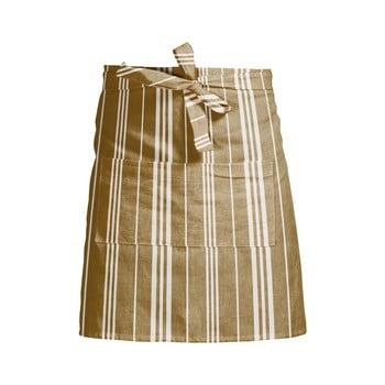 Șorț de bucătărie Linen Couture Delantal White Stripes, galben bonami.ro