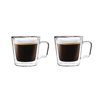 Set 2 cești pentru espresso din sticlă dublă Vialli Design, 80 ml poza bonami.ro