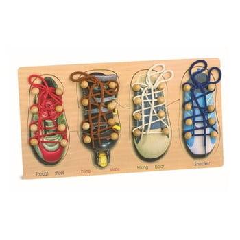 Set încălțăminte pentru exersat legatul la șireturi Legler Tryshoes poza bonami.ro