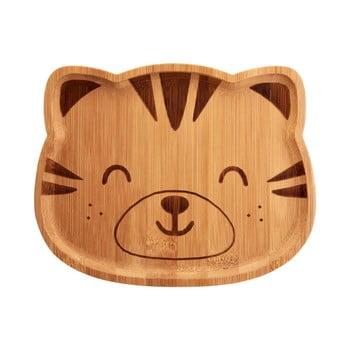 Farfurie din bambus pentru copii Sass & Belle Farmyard Friends Tiger poza bonami.ro