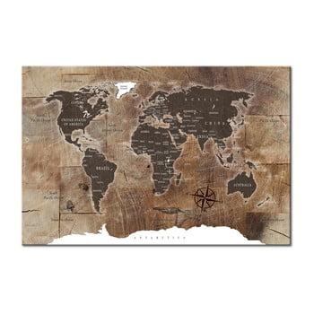 Hartă decorativă a lumii Bimago Wooden Mosaic, 120 x 80 cm poza bonami.ro