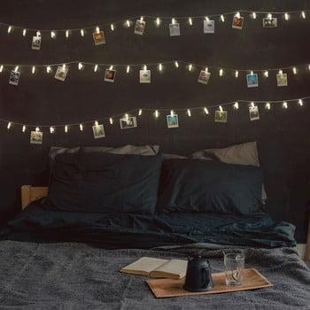 Ghirlandă luminoasă cu LED, beculețe în formă de clești DecoKing, 60 beculețe, lungime 9,35 m, transparent bonami.ro