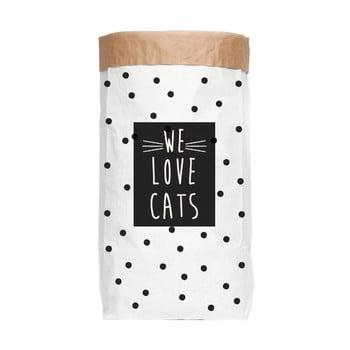 Sac depozitare din hârtie reciclată Really Nice Things Love Cats bonami.ro