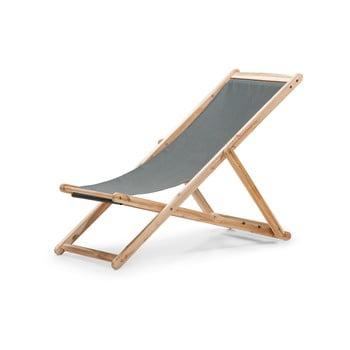 Scaun de grădină pliabil din lemn de acacia Le Bonom Deck, gri bonami.ro