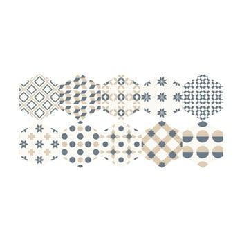 Set 10 autocolante pentru podea Ambiance Hexagons Gotzone, 20 x 18 cm bonami.ro