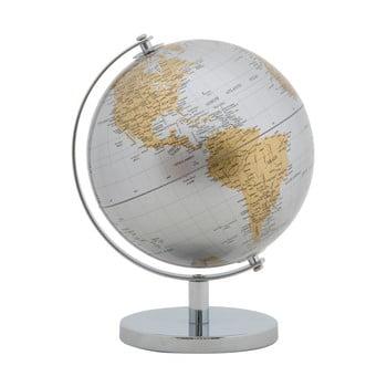 Decorațiune pentru masă Mauro Ferretti Globe, înălțime28cm, argintiu-auriu poza bonami.ro