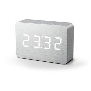 Ceas deșteptător alb cu LED alb Gingko Brick Click Clock bonami.ro