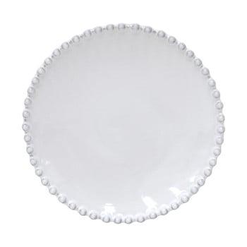 Farfurie ceramică pentru fursecuri Costa Nova Pearl, ⌀ 17 cm, alb poza bonami.ro