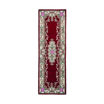 Covor din lână Flair Rugs Aubusson, 67 x 210 cm, roșu imagine