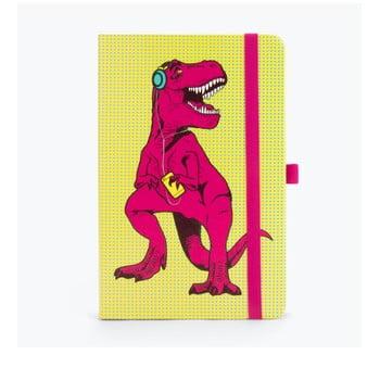 Agendă Just Mustard T-Rex, galben-roz, 190 file bonami.ro