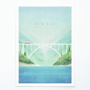 Poster Travelposter Big Sur, A3 bonami.ro