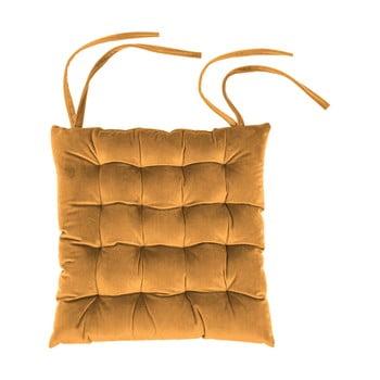 Pernă scaun din catifea Tiseco Home Studio,37x37cm, portocaliu poza bonami.ro