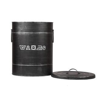 Coș metalic pentru rufe LABEL51, ⌀32cm, negru bonami.ro