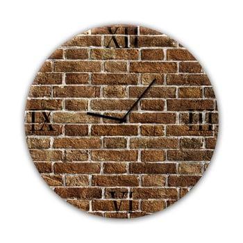 Ceas de perete Styler Glassclock Red Brick, ⌀ 30 cm bonami.ro
