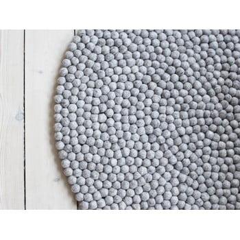 Covor cu bile din lână Wooldot Ball Rugs, ⌀ 140 cm, maro nisip imagine