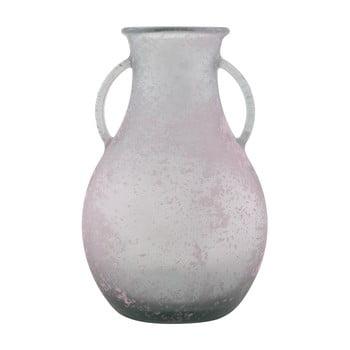 Vază din sticlă reciclată Mauro Ferretti Andora, ⌀ 32 cm, roz bonami.ro