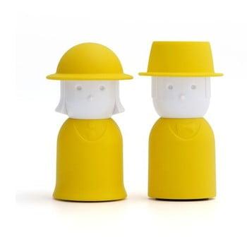 Solniță și piperniță Qualy&CO Mr. Pepper &Mr. Salt, galben bonami.ro