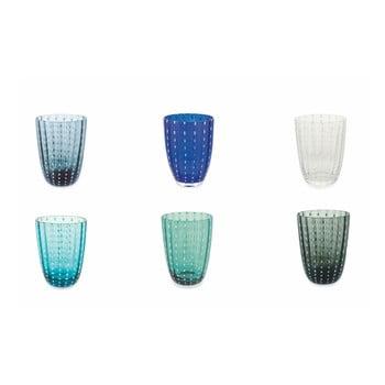 Set 6 pahare Villa d´Este Kalahari, gri - albastru - verde bonami.ro