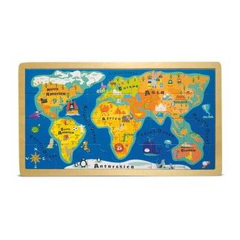Puzzle cu ramă Legler World Map poza bonami.ro