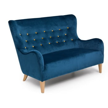 Canapea 2 locuri Max Winzer Medina, albastru imagine