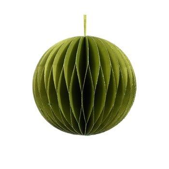 Decorațiune din hârtie pentru Crăciun Only Natural, ø 7,5 cm, verde bonami.ro