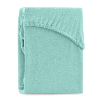 Cearșaf elastic pentru pat dublu AmeliaHome Ruby Siesta, 200-220 x 200 cm, verde bonami.ro