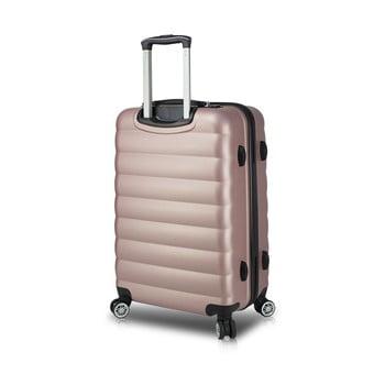 Valiză cu roți și port USB My Valice COLORS RESSNO M, roz bonami.ro