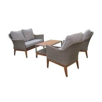 Set mobilier de grădină cu picioare din lemn de salcâm Ezeis Blum imagine
