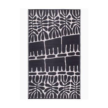 Covor reversibil potrivit pentru exterior, din plastic reciclat Fab Hab Serowe Black, 150 x 240 cm, negru imagine