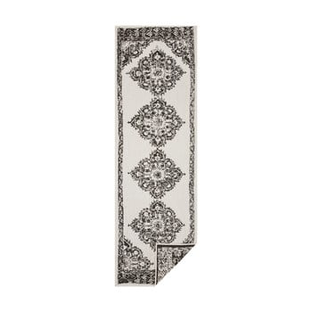 Covor adecvat pentru exterior Bougari Cofete, 80 x 350 cm, negru-crem bonami.ro