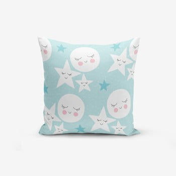 Față de pernă cu amestec din bumbac Minimalist Cushion Covers With Points Moon Star, 45 x 45 cm bonami.ro
