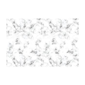 Set 24 autocolante pentru perete Ambiance Black and White Marble, 10x10cm poza bonami.ro