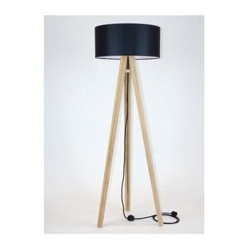 Lampadar cu abajur și cablu negru Ragaba Wanda bonami.ro