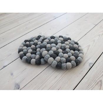 Suport pahar, cu bile din lână Wooldot Ball Coaster, ⌀ 20 cm, gri închis bonami.ro