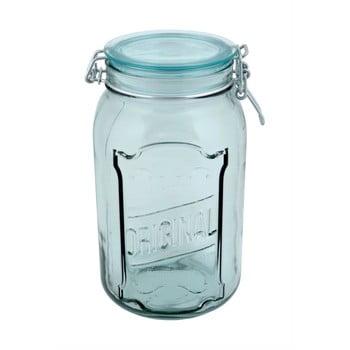 Borcan din sticlă reciclată cu închidere ermetică Ego Dekor Original, 1,9 l poza bonami.ro