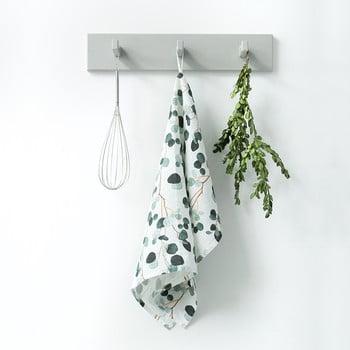 Prosop de bucătărie din in Linen Tales Eucalyptus, 65x45cm, alb - verde bonami.ro