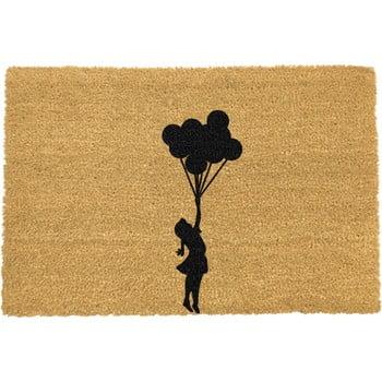 Covoraș intrare din fibre de cocos Artsy Doormats Flying Balloon Girl, 40 x 60 cm poza bonami.ro