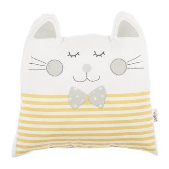 Pernă din amestec de bumbac pentru copii Mike&Co.NEWYORK Pillow Toy Big Cat, 29 x 29 cm, galben bonami.ro