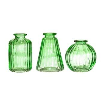 Set 3 vaze din sticlă Sass & Belle Bud, verde bonami.ro