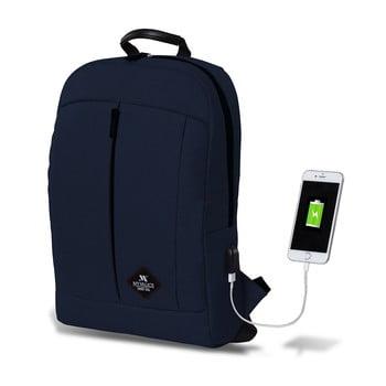 Rucsac cu port USB My Valice GALAXY Smart Bag, albastru închis bonami.ro