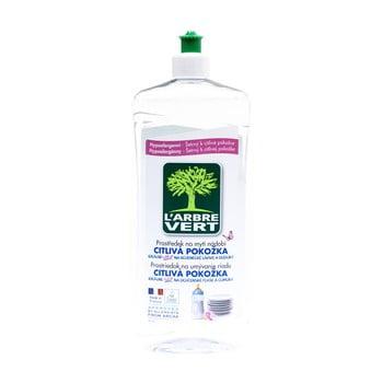 Detergent lichid și ecologic pentru spălarea vaselor L´Arbre Vert Sensitive, 2 x 750 ml bonami.ro
