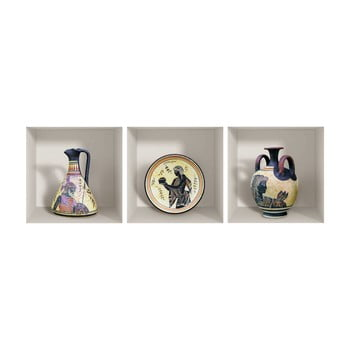 Set 3 autocolante 3D pentru perete Ambiance Greek Objects bonami.ro