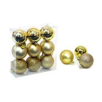 Set 9 decorațiuni de Crăciun Unimasa Caja, auriu bonami.ro