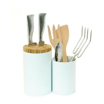 Suport pentru cuțite și pentru ustensile de bucătărie Wireworks Knife&Spoon White poza bonami.ro