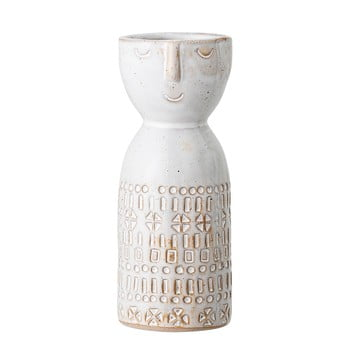 Vază din gresie ceramică Bloomingville Geometric, alb bonami.ro